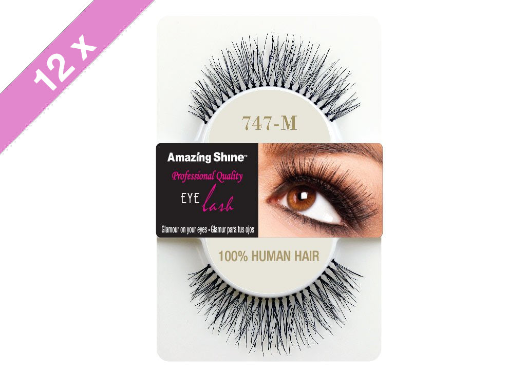 Amazing Shine eyelashes #747M (12 Pack)