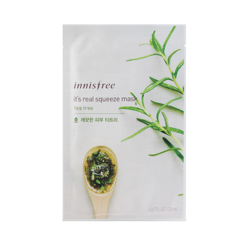 innisfree - It's Real Squeeze Mask [tea tree]