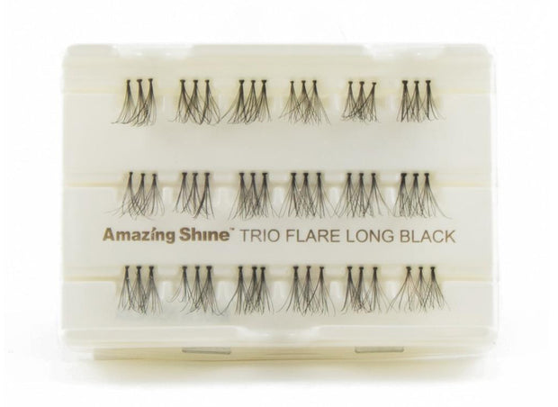 False Eyelashes Trio #Flare Long Black (1 Pack)