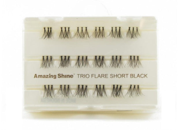 False Eyelashes #Trio Flare Short Black (1 Pack)