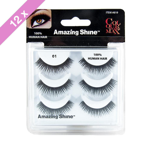 Amazing Shine eyelashes Trio # 01 (12 Pack)