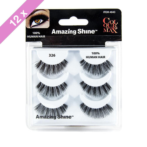 Amazing Shine eyelashes Trio # 326 (12 Pack)