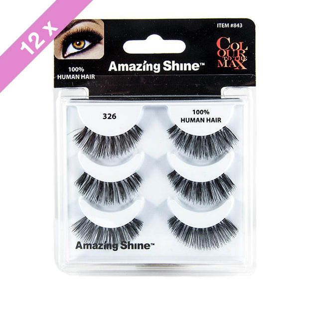 False Eyelashes Trio #326 (12 Pack)