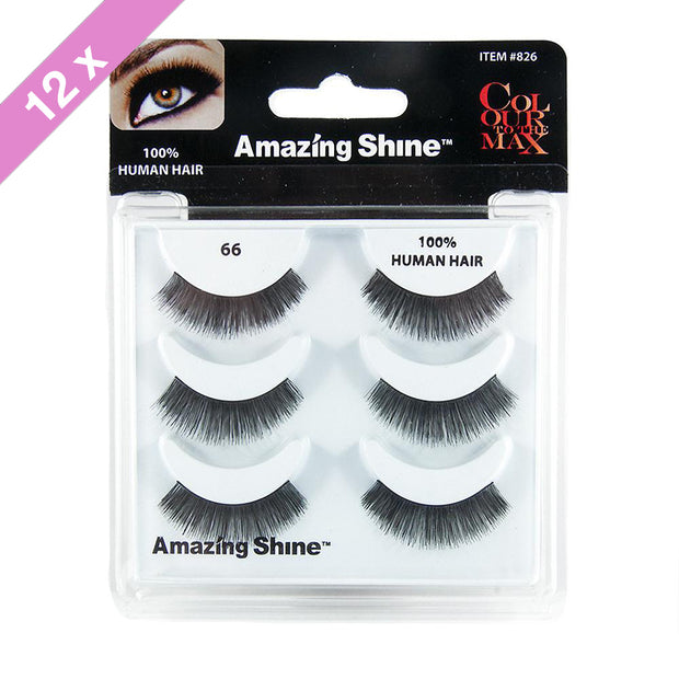 False Eyelashes Trio #66 (12 Pack)
