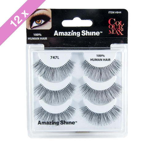 Amazing Shine eyelashes Trio # 747L (12 Pack)
