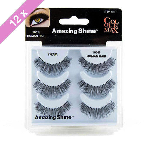 Amazing Shine eyelashes Trio # 747M (12 Pack)