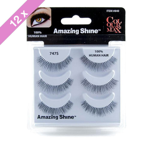 Amazing Shine eyelashes Trio # 747S (12 Pack)