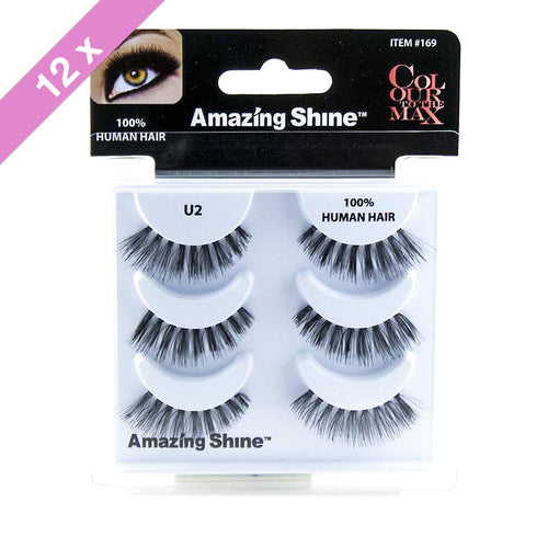 Amazing Shine eyelashes Trio # U2 (12 Pack)