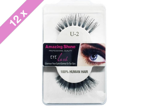Amazing Shine eyelashes # U-2 (12 Pack)