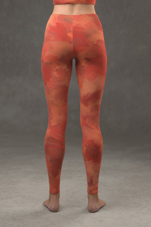 Painted Leggings: Rosy