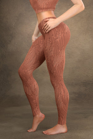 Brushed Copper Leggings