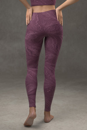 Marbled Butterfly Leggings: Byzantium Purple