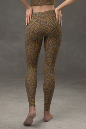 Nouveau Vines Leggings: Forest