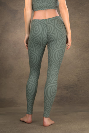Nouveau Bands Leggings: Sage