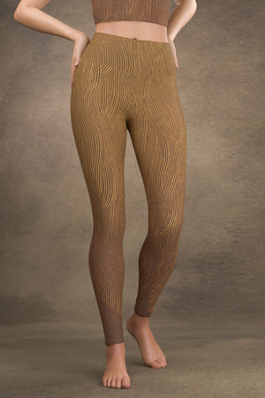Brushed Bronze Yoga Leggings