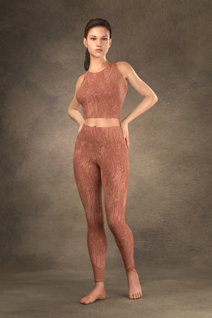 Brushed Copper Yoga Leggings