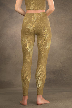 Brushed Gold Yoga Leggings