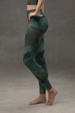 Painted Yoga Leggings: Deep Sea