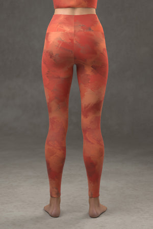 Painted Yoga Leggings: Rosy
