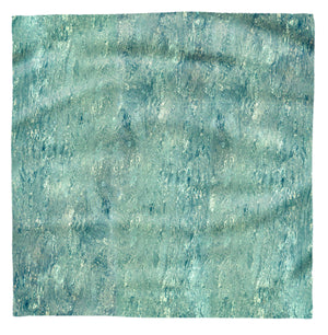 Turquoise Riverbed Square Scarf
