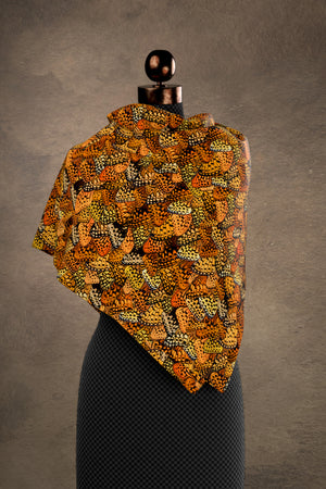 Spangled Fritillary Square Scarf