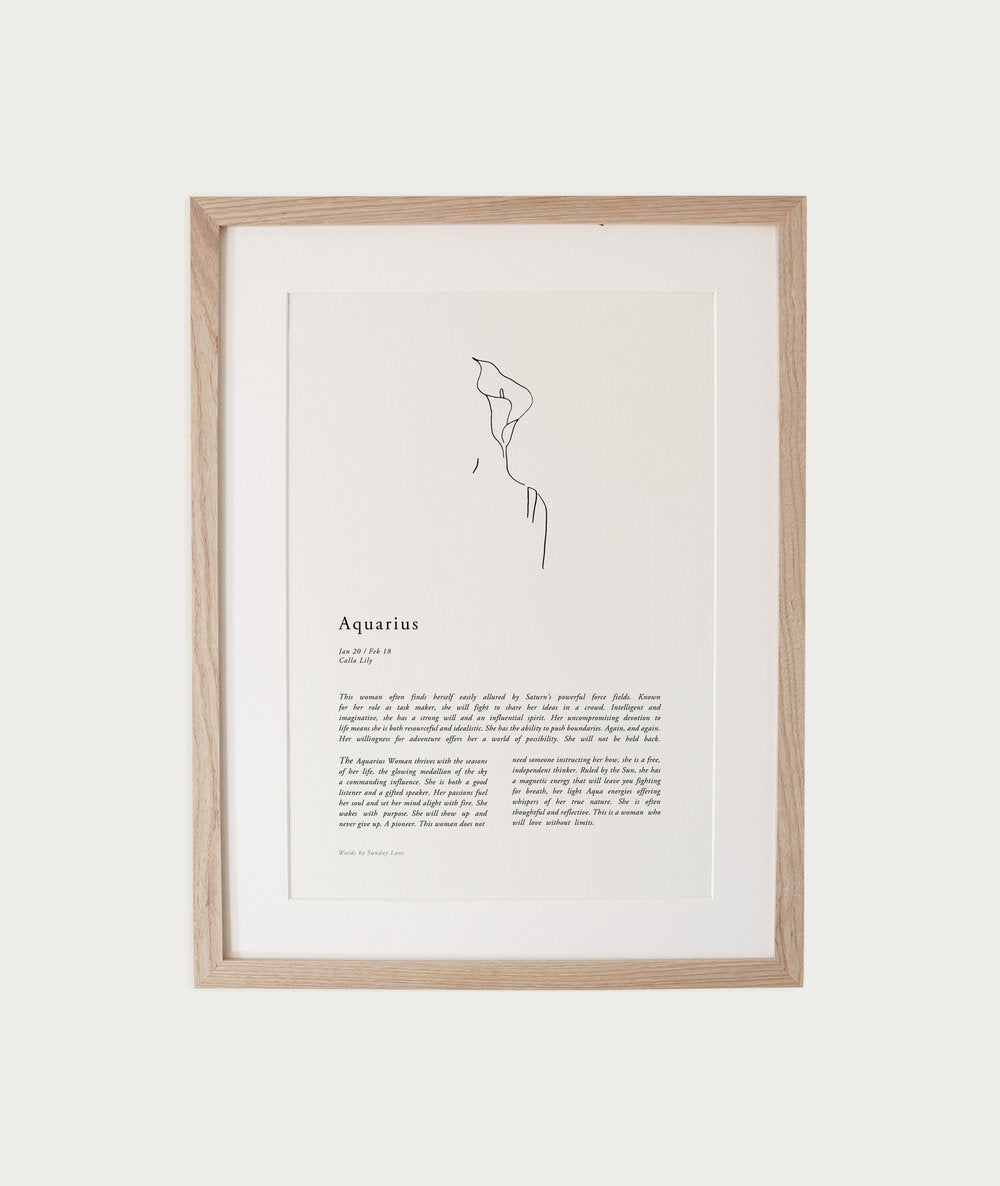 Sunday Lane Print - Aquarius Woman II