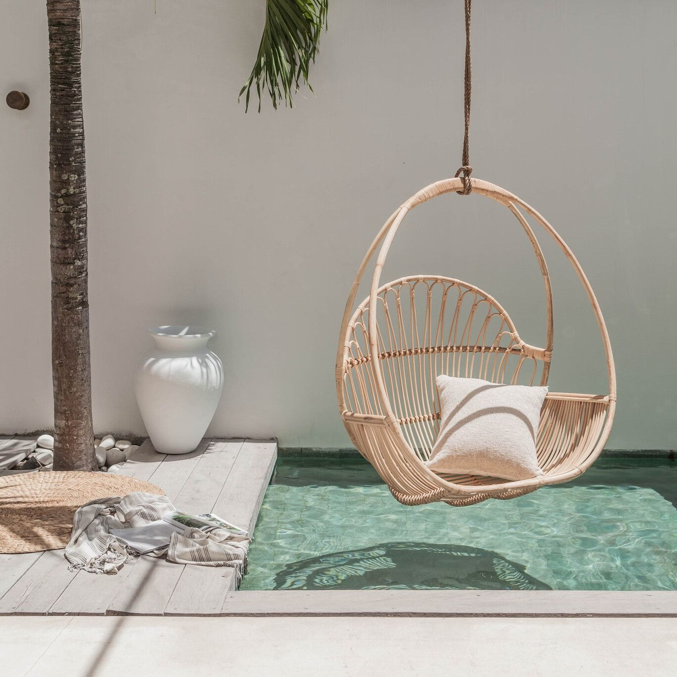 Udara Rattan Hanging Chair Pre Order December Villa Lane