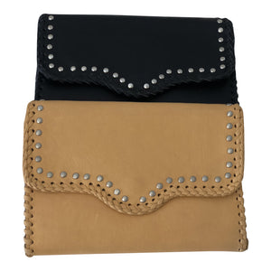 Montanah the Label - Leather Studded Clutch