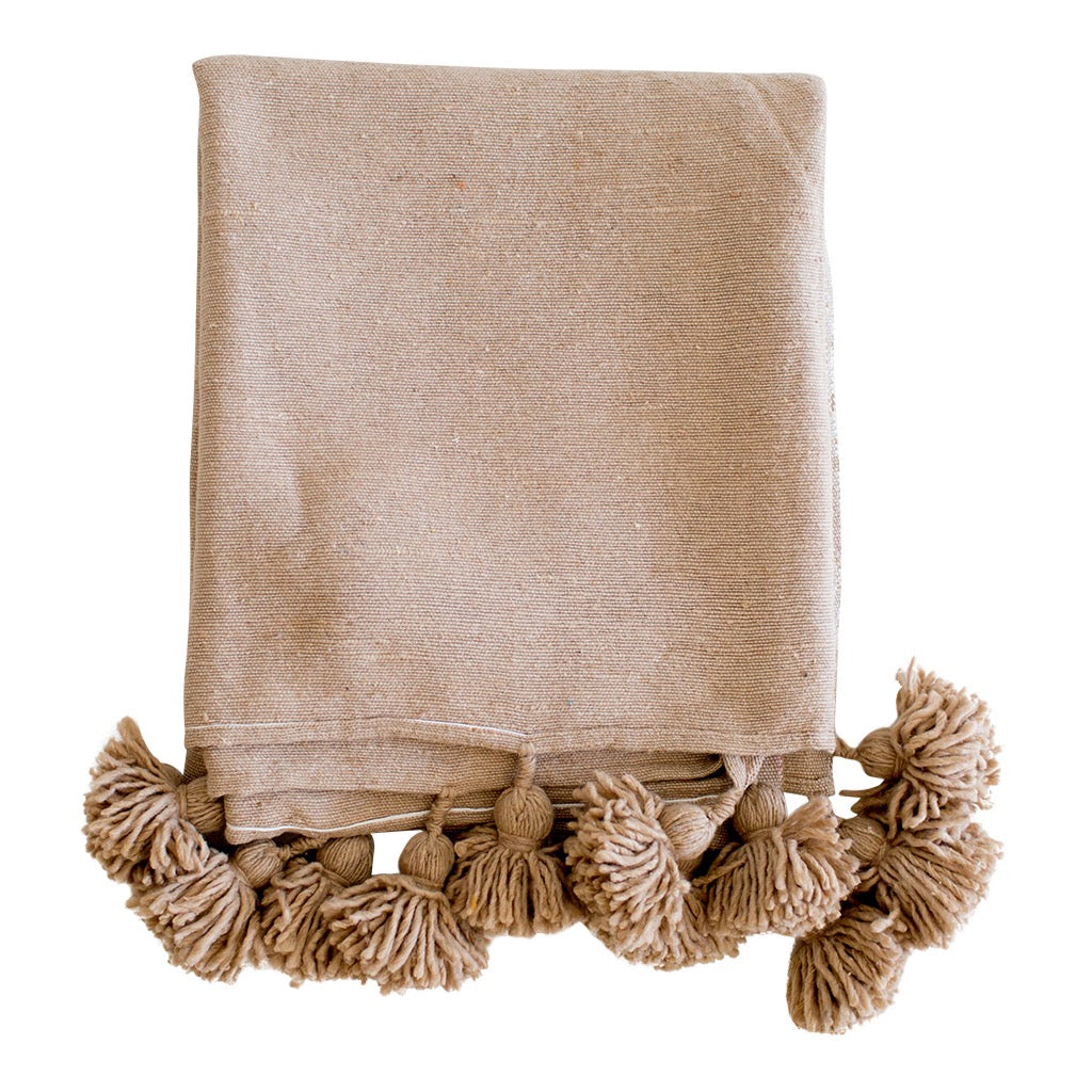 Beni Kesh - Cotton Pom Pom Blanket