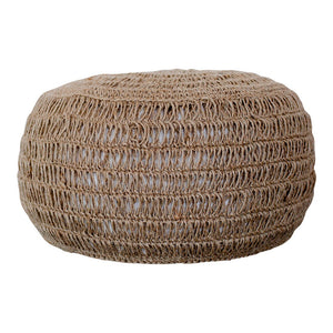 Natural Soft Jute Pouffe
