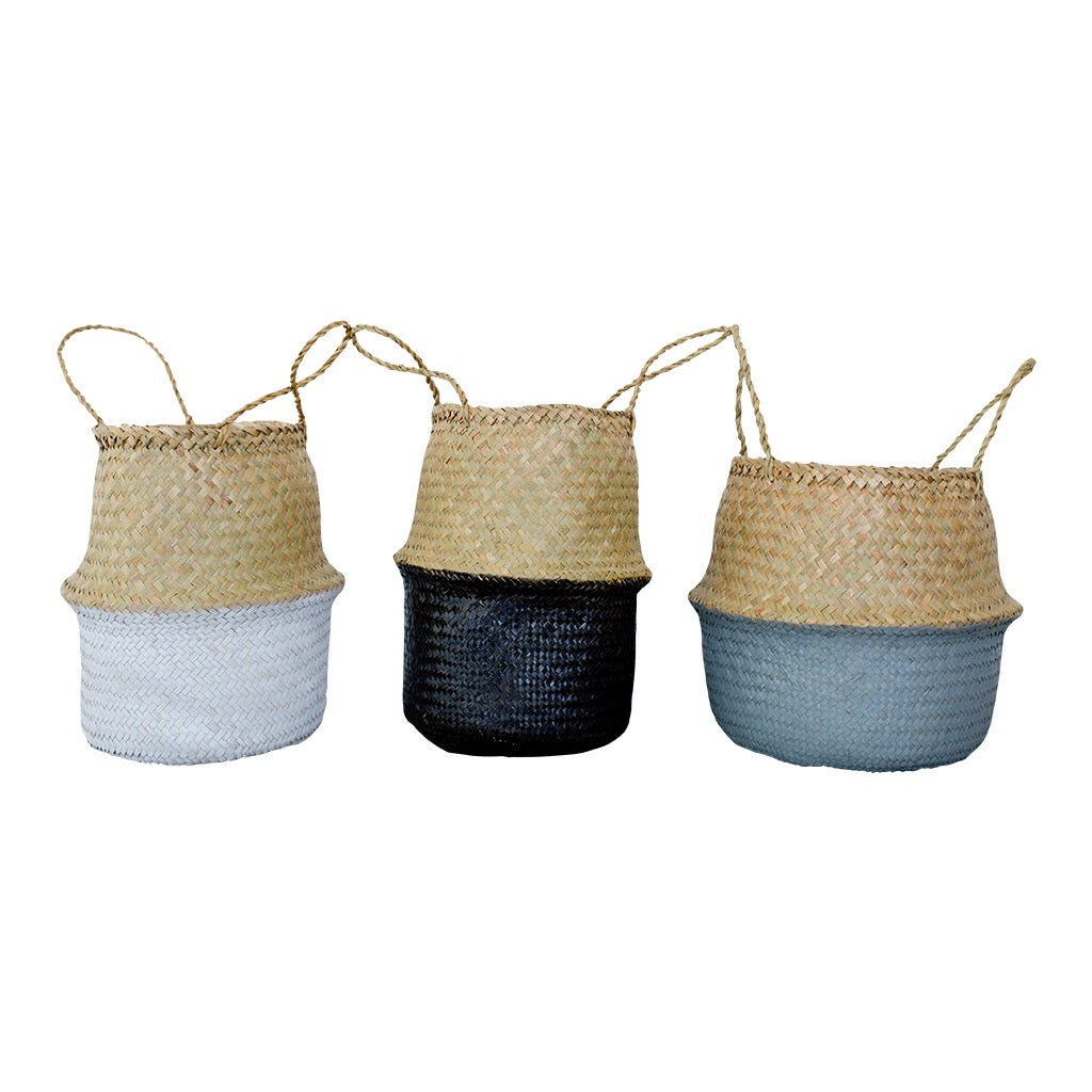 Palm Leaf Natural Dipped Baskets