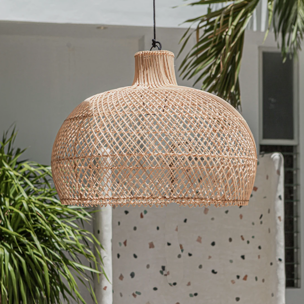 Large Benoa - Rattan Light
