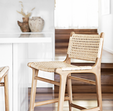 Asri - Teak/Rattan Counter Stool With Back