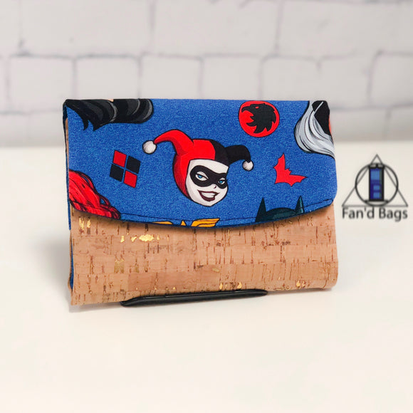 Ladies of the Comics in Rich Blue Wallet