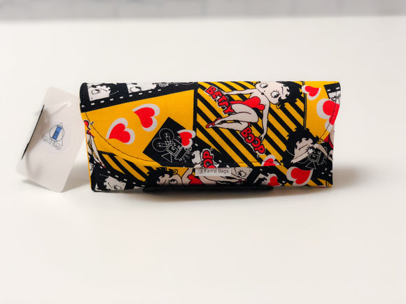 Betty Boop Eye Glass Case by Fan'd Bags