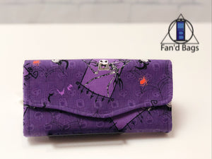 Nightmare Before Christmas Purple Wallet by Fan'd Bags