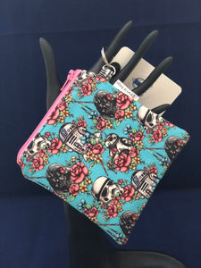 Mini Blue Floral Wars Coin Purse