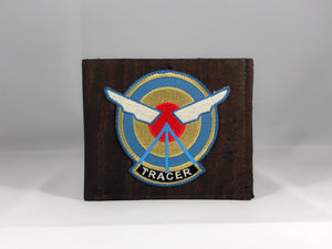 Tracer in Brown Bi-Fold Wallet
