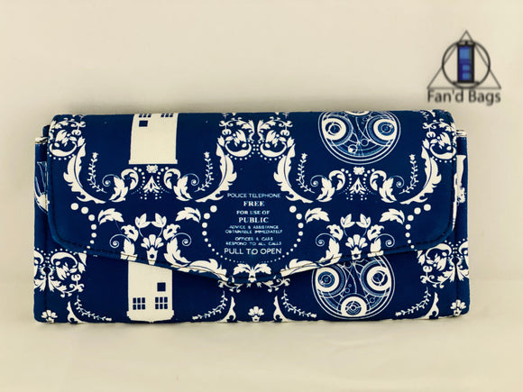 Doctor Who Damask Clutch Wallet