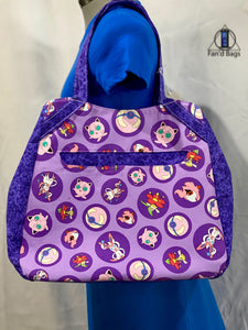 Purple Poke Balls Travel Bag