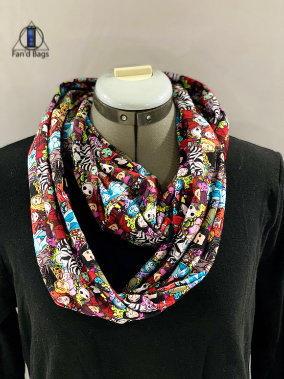 Tim Burton Double Loop Infinity Scarf