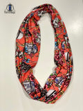 Coral Floral Star Wars Double Loop Infinity Scarf