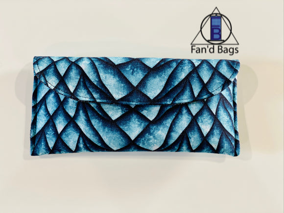 Icy Dragon Scales Eye Glass Case