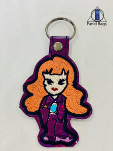 Rowena McCloud Embroidered Keychain