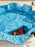 Blue Mermaid Scale Dice Bag