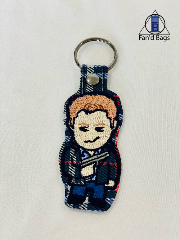 Dean Winchester Embroidered Keychain