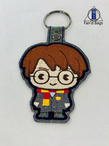 Harry Potter Embroidered Keychain