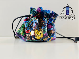 Beauty and the Beast Drawstring Dice Bag