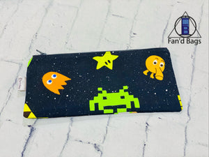Retro Video Game Zip Bag