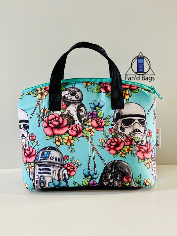 Blue Floral Wars Lunch Box